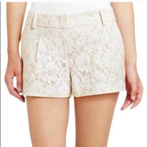 $158 BCBGMaxAzria Lili White Lace Shorts